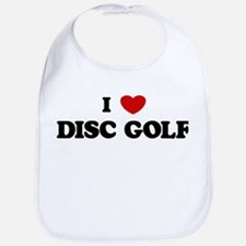I Love Disc Golf Bib