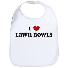I Love Lawn Bowls Bib