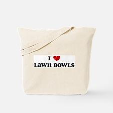 I Love Lawn Bowls Tote Bag