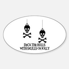 DECK the HULLS Oval Decal