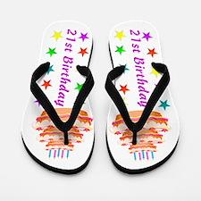 COLORFUL 21ST Flip Flops