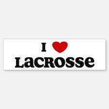 I Love Lacrosse Bumper Bumper Bumper Sticker