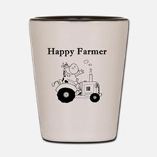 Happy Farmer Shot Glass