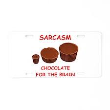 sarcasm Aluminum License Plate