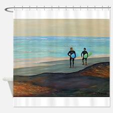 SURF TALK Shower Curtain