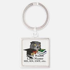 Custom Owl Medical Graduate Square Keychain