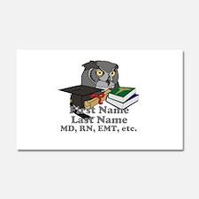 Custom Owl Medical Graduate Car Magnet 20 x 12
