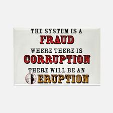 CORRUPTION Rectangle Magnet