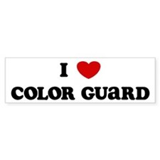 I Love Color Guard Bumper Car Sticker
