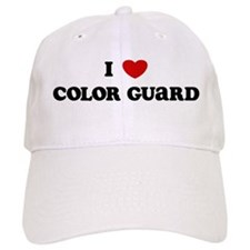 I Love Color Guard Baseball Cap
