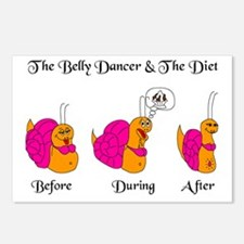 Belly Dancing Snail Diet Postcards (Package of 8)