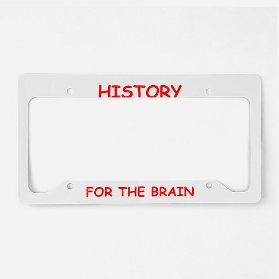history License Plate Holder