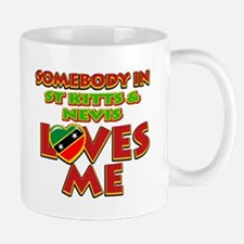 Somebody in St Kitts and Nevis Loves me Mug