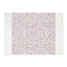 Colorful Mites 5x7Area Rug