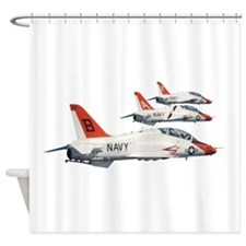 T-45 Goshawk Trainer Aircraft Shower Curtain