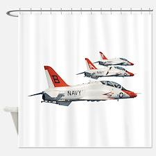 T-45 Goshawk Trainer Aircraft Shower Curtain