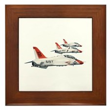 T-45 Goshawk Trainer Aircraft Framed Tile
