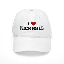 I Love Kickball Baseball Cap