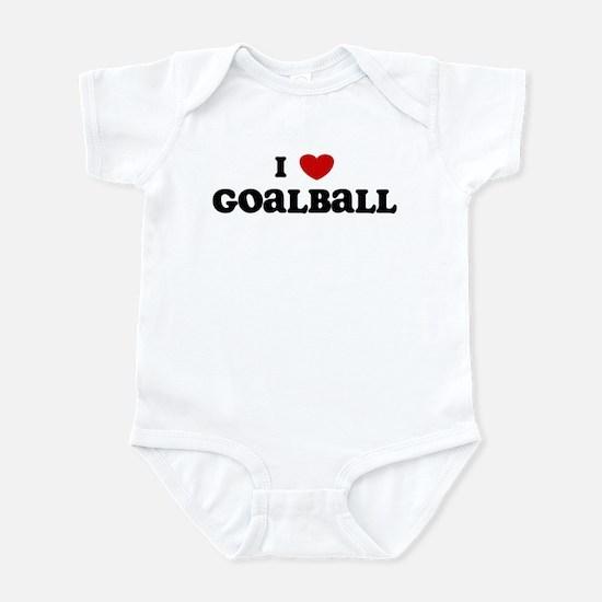 I Love Goalball Infant Bodysuit