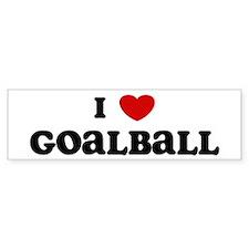 I Love Goalball Bumper Bumper Sticker