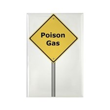 Warning Sign Poison Gas Rectangle Magnet