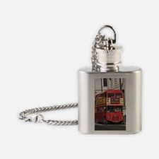 Vintage Red  London Bus Flask Necklace