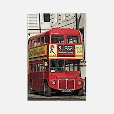 Vintage Red  London Bus Rectangle Magnet