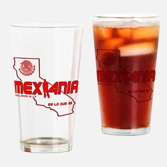 Cute Mexico hecho en Drinking Glass