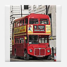 Vintage Red London Bus Tile Coaster