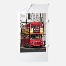 Vintage Red London Bus Beach Towel