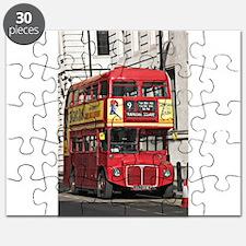 Vintage Red London Bus Puzzle