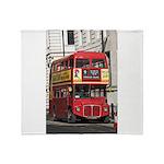 Vintage Red London Bus Throw Blanket