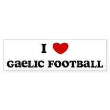 I Love Gaelic Football Bumper Bumper Sticker