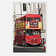Vintage Red London Bus Postcards (Package of 8)