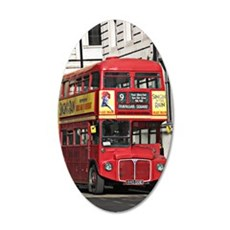Vintage Red London Bus Wall Sticker