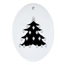 YO CHRISTMAS TREE YO CHRISTMAS TREE Ornament (Oval