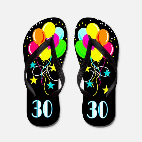 SIZZLING 30TH Flip Flops