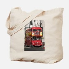 Vintage Red London Bus Tote Bag