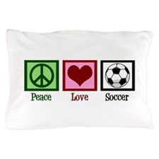 Peace Love Soccer Pillow Case