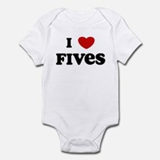 I Love Fives Infant Bodysuit