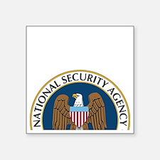 """NSA Monitored Device Square Sticker 3"""" x 3"""""""