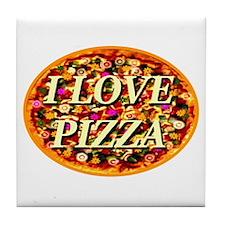 I Love Pizza Tile Coaster