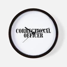 CORRECTIONAL OFFICER Wall Clock