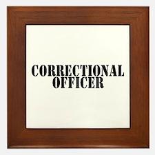 CORRECTIONAL OFFICER Framed Tile