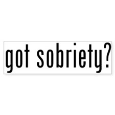 got sobriety? Bumper Bumper Sticker