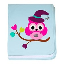 Cute Halloween Owl baby blanket
