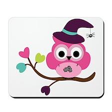 Cute Halloween Owl Mousepad