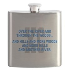 Over the River Cross Country Quote Flask