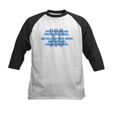 Over the River Cross Country Quote Baseball Jersey