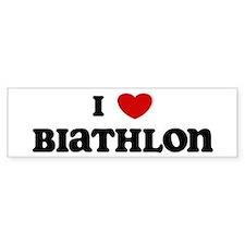 I Love Biathlon Bumper Bumper Sticker